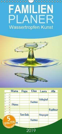 Wassertropfen Kunst Fotografie – Familienplaner hoch (Wandkalender 2019 <strong>21 cm x 45 cm</strong> hoch) von Nimmervoll,  Daniel