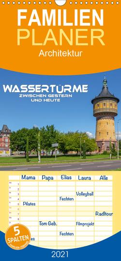 Wassertürme zwischen gestern und heute – Familienplaner hoch (Wandkalender 2021 , 21 cm x 45 cm, hoch) von Seifert,  Birgit