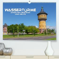 Wassertürme zwischen gestern und heute (Premium, hochwertiger DIN A2 Wandkalender 2021, Kunstdruck in Hochglanz) von Seifert,  Birgit