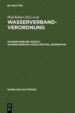 Wasserverbandverordnung von Kaiser,  Paul, Linckelmann,  Karl, Schleberger,  Erwin, Weiß,  Erich