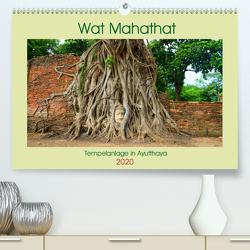 Wat Mahathat – Tempelanlage in Ayutthaya (Premium, hochwertiger DIN A2 Wandkalender 2020, Kunstdruck in Hochglanz) von Paul - Babett's Bildergalerie,  Babett