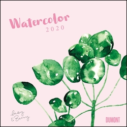Watercolor 2020 – May & Berry – Wandkalender mit Spiralbindung – DUMONT Quadratformat 24 x 24 cm von DUMONT Kalenderverlag, May & Berry
