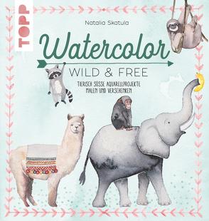 Watercolor Wild & Free von Skatula,  Natalie