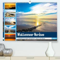 Wattenmeer Nordsee – Lichtstimmungen zwischen Land und Meer (Premium, hochwertiger DIN A2 Wandkalender 2021, Kunstdruck in Hochglanz) von und Hardy Dreegmeyer,  Andrea