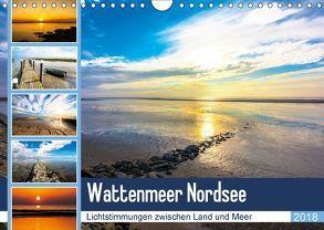 Wattenmeer Nordsee – Lichtstimmungen zwischen Land und Meer (Wandkalender 2018 DIN A4 quer) von und Hardy Dreegmeyer,  Andrea