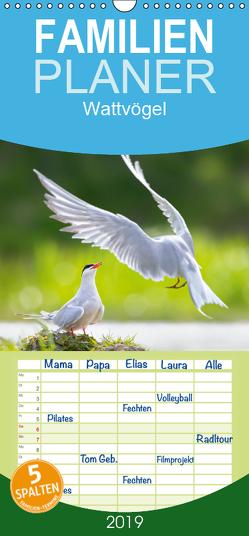 Wattvögel an der Friesischen IJsselmeerküste – Familienplaner hoch (Wandkalender 2019 , 21 cm x 45 cm, hoch) von Will,  Thomas