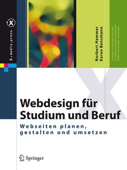 Webdesign für Studium und Beruf von Bensmann,  Karen, Hammer,  Norbert