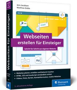Webseiten erstellen für Einsteiger von Gidda,  Matthias, Jacobsen,  Jens