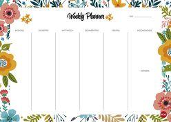 Weekly Planner Flowers DIN A4 von Heye