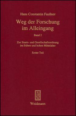 Weg der Forschung im Alleingang von Faußner,  Hans Constantin