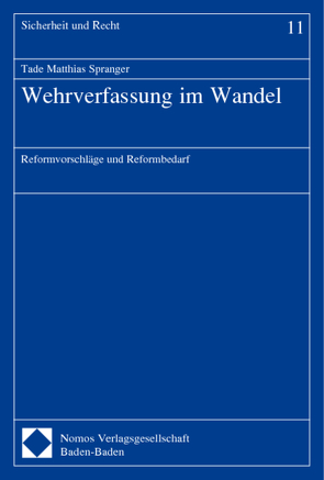 Wehrverfassung im Wandel von Spranger,  Tade Matthias