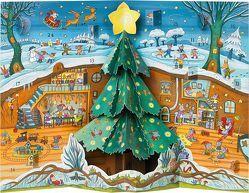 Weihnachten bei Familie Maus Pop-up-Adventskalender von Kulot,  Daniela