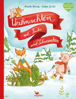 Weihnachten mit Fuchs und Schweinchen von Herzog,  Annette, Jessler,  Nadine