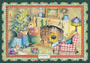 Weihnachten vorm Kamin von Wheeler,  Susan