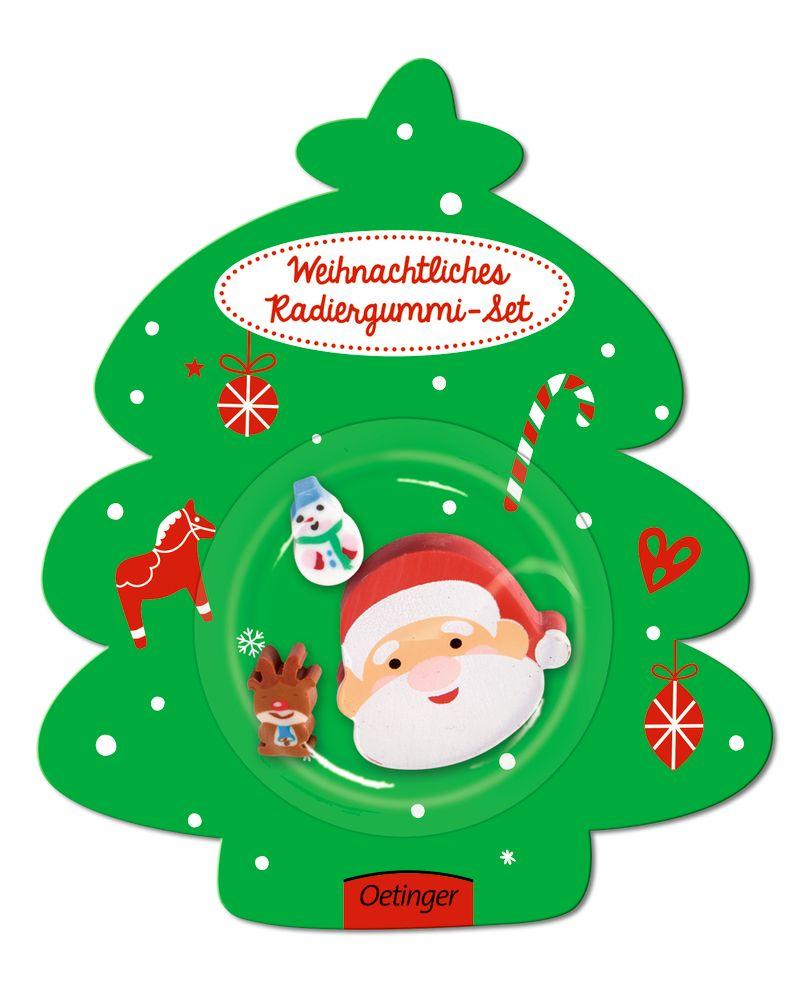 Weihnachten Weihnachtsmann Radiergummi-Set von Schilling, Maike: