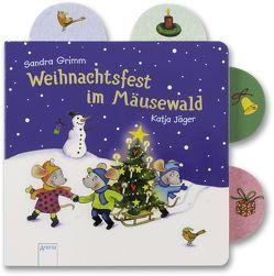 Weihnachtsfest im Mäusewald von Grimm,  Sandra, Jäger,  Katja