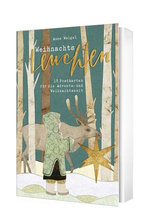 Weihnachtsleuchten – Postkartenset von Weigel,  Anne