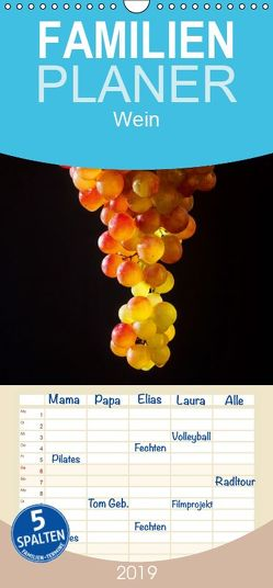 Wein – Familienplaner hoch (Wandkalender 2019 , 21 cm x 45 cm, hoch) von Jaeger,  Thomas