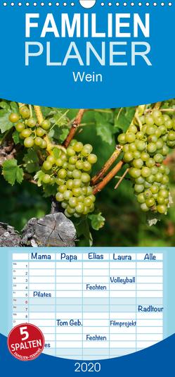 Wein – Familienplaner hoch (Wandkalender 2020 , 21 cm x 45 cm, hoch) von Jäger,  Anette/Thomas