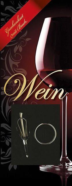 Wein – Geschenkset mit Buch, Weinausgießer und Tropfenfänger
