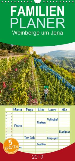Weinberge um Jena – Familienplaner hoch (Wandkalender 2019 , 21 cm x 45 cm, hoch) von Gropp,  Gerd
