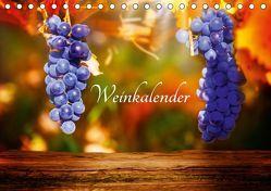 Weinkalender (Tischkalender 2019 DIN A5 quer) von Tänzer / Fotoknips,  Kay