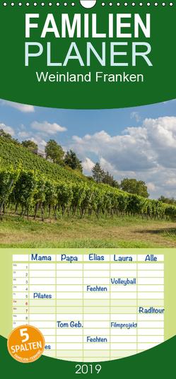 Weinland Franken – Familienplaner hoch (Wandkalender 2019 , 21 cm x 45 cm, hoch) von Will,  Hans