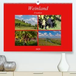 Weinland Franken (Premium, hochwertiger DIN A2 Wandkalender 2020, Kunstdruck in Hochglanz) von Will,  Hans
