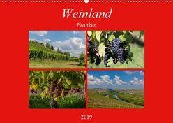 Weinland Franken (Wandkalender 2019 DIN A2 quer) von Will,  Hans