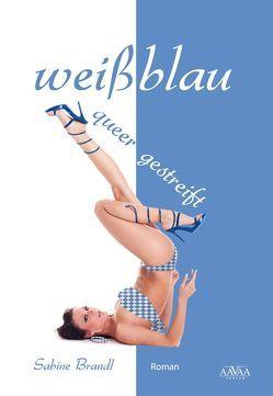weißblau queer gestreift von Brandl,  Sabine