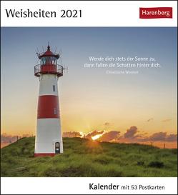Weisheiten Kalender 2021 von Harenberg