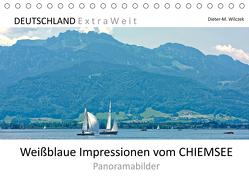 Weißblaue Impressionen vom CHIEMSEE Panoramabilder (Tischkalender 2020 DIN A5 quer) von Wilczek,  Dieter-M.
