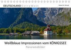 Weißblaue Impressionen vom KÖNIGSSEE Panoramabilder (Tischkalender 2018 DIN A5 quer) von Wilczek,  Dieter-M.