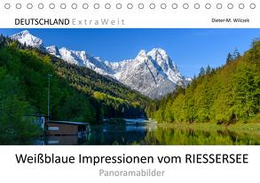 Weißblaue Impressionen vom RIESSERSEE Panoramabilder (Tischkalender 2020 DIN A5 quer) von Wilczek,  Dieter-M.