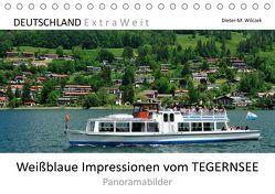 Weißblaue Impressionen vom TEGERNSEE Panoramabilder (Tischkalender 2019 DIN A5 quer) von Wilczek,  Dieter-M.