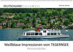 Weißblaue Impressionen vom TEGERNSEE Panoramabilder (Wandkalender 2019 DIN A2 quer) von Wilczek,  Dieter-M.