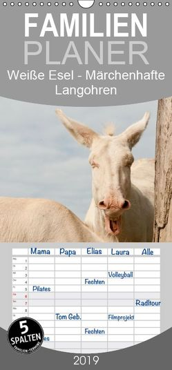 Weiße Esel – Märchenhafte Langohren – Familienplaner hoch (Wandkalender 2019 , 21 cm x 45 cm, hoch) von Bölts,  Meike