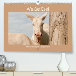 Weiße Esel – Märchenhafte Langohren (Premium, hochwertiger DIN A2 Wandkalender 2021, Kunstdruck in Hochglanz) von Bölts,  Meike