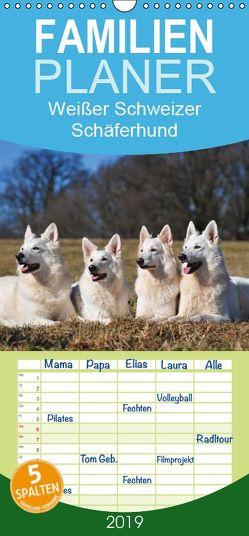 Weißer Schweizer Schäferhund – Familienplaner hoch (Wandkalender 2019 , 21 cm x 45 cm, hoch) von Starick,  Sigrid