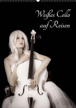 Weißes Cello auf Reisen (Wandkalender 2019 DIN A2 hoch) von Art,  Ravienne