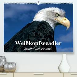 Weißkopfseeadler. Symbol der Freiheit (Premium, hochwertiger DIN A2 Wandkalender 2021, Kunstdruck in Hochglanz) von Stanzer,  Elisabeth