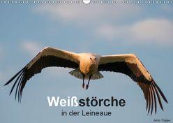 Weißstörche in der Leineaue (Wandkalender 2019 DIN A3 quer) von Trappe,  Janto