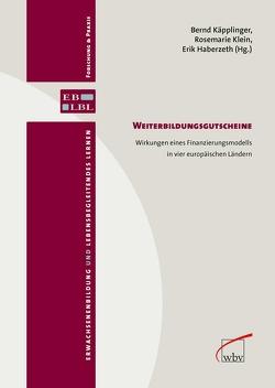 Weiterbildungsgutscheine von Haberzeth,  Erik, Käpplinger,  Bernd, Klein,  Rosemarie