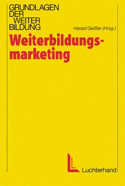 Weiterbildungsmarketing von Geissler,  Harald