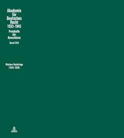 Weitere Nachträge (1934 – 1939) von Schubert,  Werner