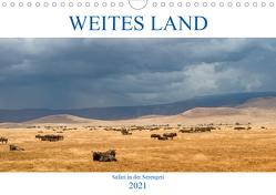 Weites Land – Safari in der Serengeti (Wandkalender 2021 DIN A4 quer) von Schulz,  Oliver