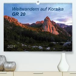 Weitwandern auf Korsika GR 20 (Premium, hochwertiger DIN A2 Wandkalender 2021, Kunstdruck in Hochglanz) von Vogel,  Carmen