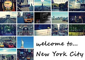 welcome to New York City / Geburtstagskalender (Wandkalender 2019 DIN A3 quer) von Büttner,  Stephanie