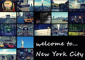 welcome to New York City (Wandkalender 2019 DIN A2 quer) von Büttner,  Stephanie