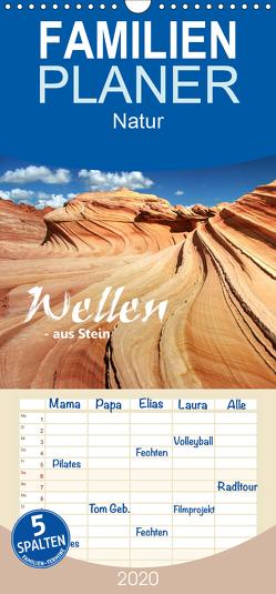 Wellen – aus Stein – Familienplaner hoch (Wandkalender 2020 , 21 cm x 45 cm, hoch) von Stamm,  Dirk